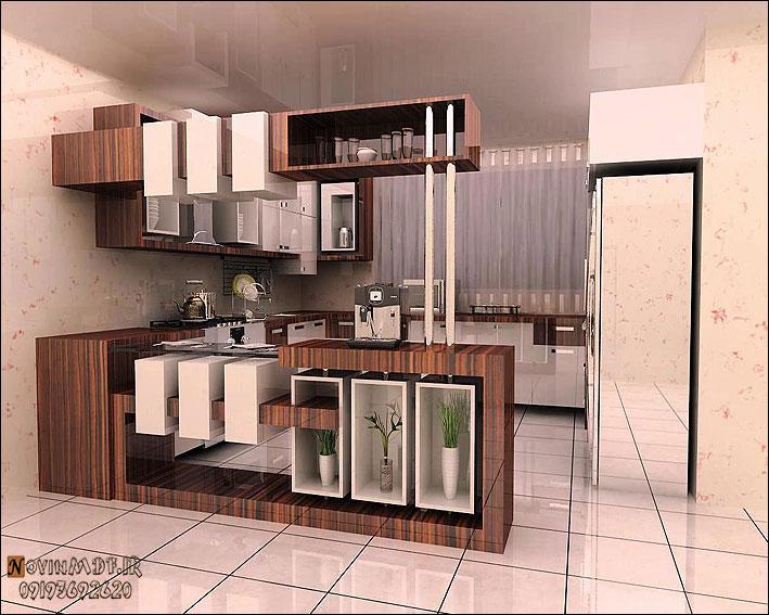 طرح کانتر کابینت ام دی افآشپزخانه