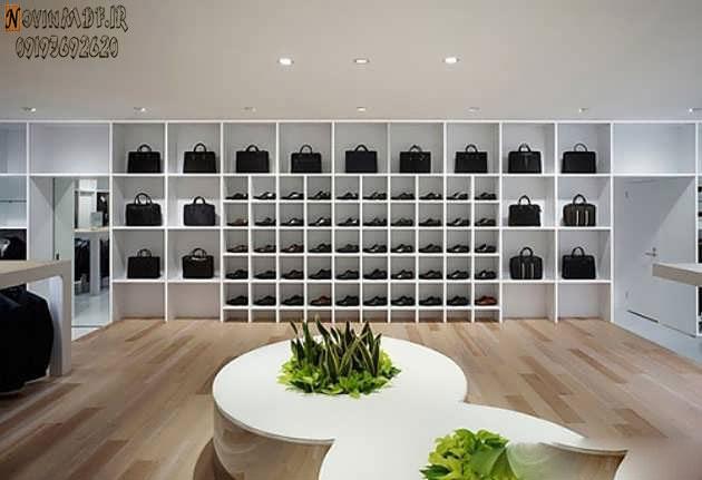 طراحی دکوراسیون فروشگاه کیف و کفش